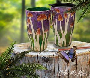 Valencia Mushroom Mugs