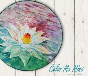 Valencia Lotus Flower Plate