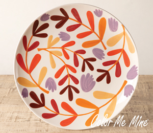 Valencia Fall Floral Charger