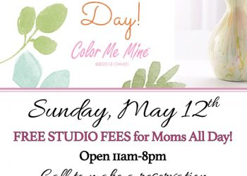 FREE Studio Fees for Moms on Mother's Day! Sunday, May 12th